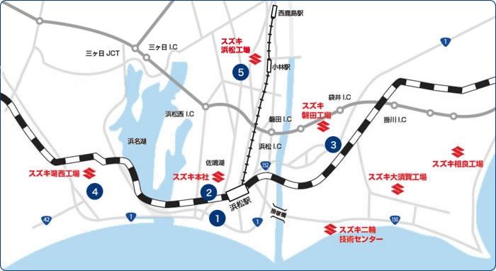 静岡県西部地区を中心に、直営店5拠点。